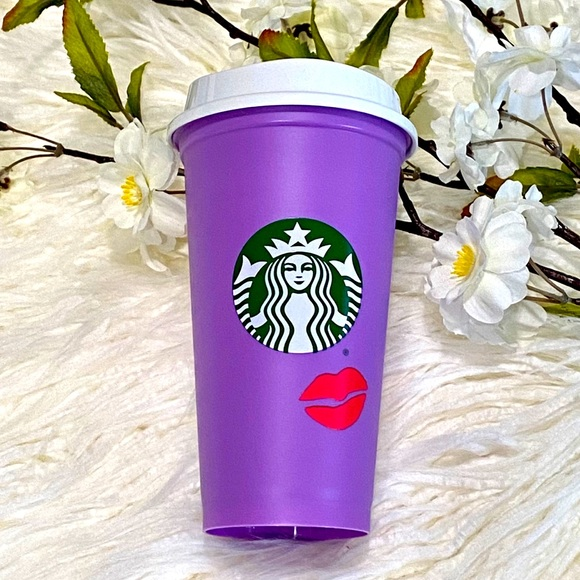 Starbucks 2021 Valentine's Color Changing Lips Cup